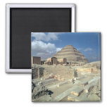 Complex of Djoser including the Step Pyramid 2 Inch Square Magnet