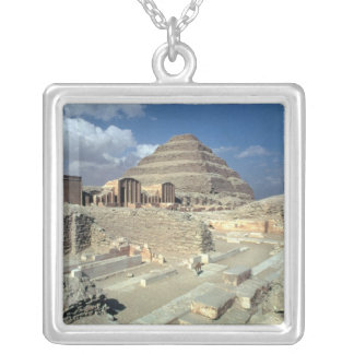 Complex of Djoser including the Step Pyramid Silver Plated Necklace