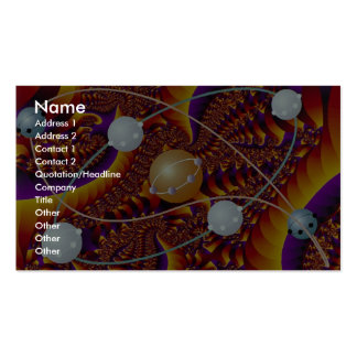 Complex orbits in orange photo Double-Sided standard business cards (Pack of 100)