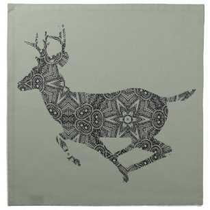 complex pattern deer coloring page art to color napkin