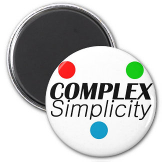 Complex Simplicity 2 Inch Round Magnet