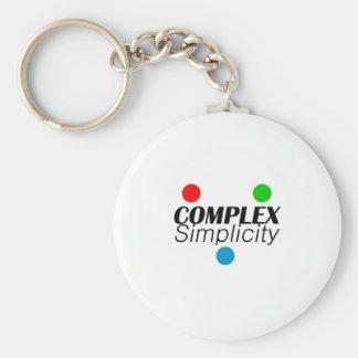 Complex Simplicity Basic Round Button Keychain