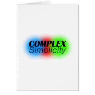 complex simplicity card