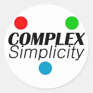 Complex Simplicity Classic Round Sticker