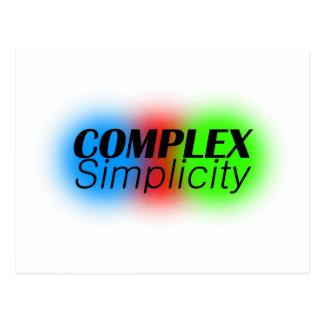complex simplicity postcard