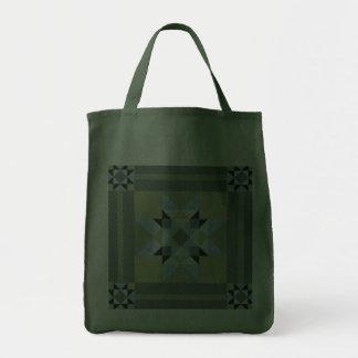 Complex Star Patch Green & Blue Canvas Bag