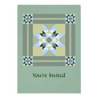 Complex Star Patch Green & Blue Card