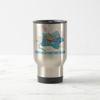 Complex Structure Inside (Eukaryotic Cell) 15 Oz Stainless Steel Travel Mug