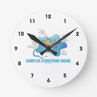 Complex Structure Inside (Eukaryotic Cell) Round Wall Clocks