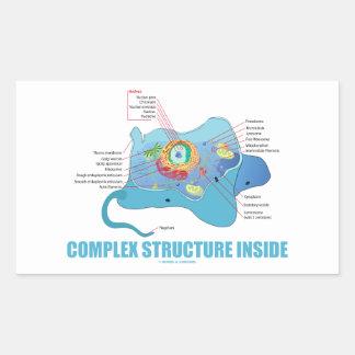 Complex Structure Inside (Eukaryotic Cell) Rectangular Sticker
