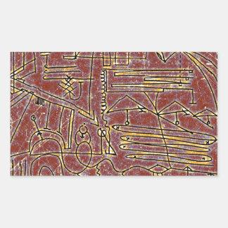 Complexity Artwork Rectangular Sticker