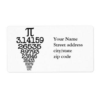 Compleye 3 14 del día del pi etiquetas de envío