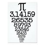 Compleye 3,14 del día del pi invitación 12,7 x 17,8 cm