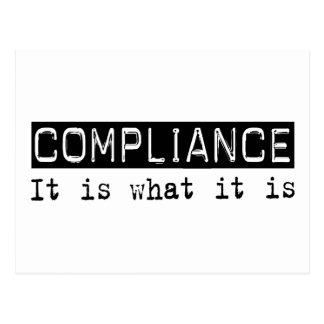 Compliance It Is Postcard