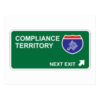 Compliance Next Exit Postcard