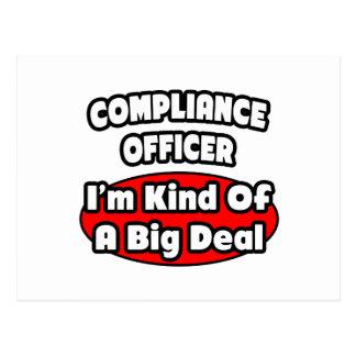 Compliance Officer ... Big Deal Postcard