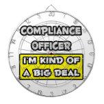 Compliance Officer .. I'm Kind of a Big Deal Dartboards