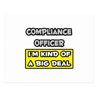 Compliance Officer .. I'm Kind of a Big Deal Postcard