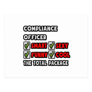Compliance Officer ... The Total Package Postcard