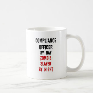 Compliance Officer Zombie Slayer Classic White Coffee Mug
