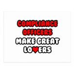 Compliance Officers Make Great Lovers Postcard