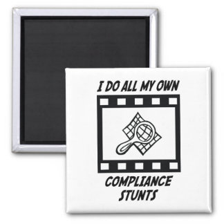 Compliance Stunts Refrigerator Magnets