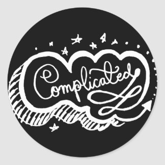 Complicated 2 round stickers