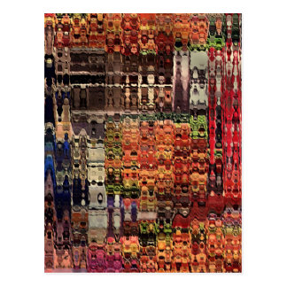 complicated abstract by rafi talby postcard