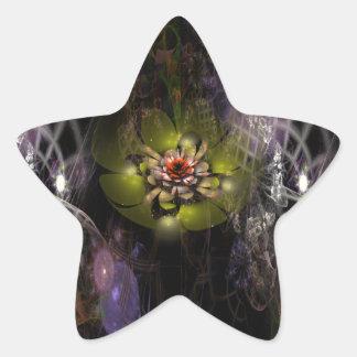 Complicated Flower Star Sticker