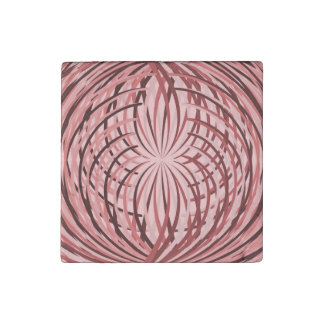 Complicated Frill Pink Stone Magnet