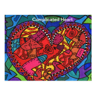 Complicated Heart Post Card