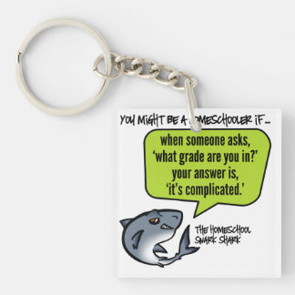 Complicated Single-Sided Square Acrylic Keychain