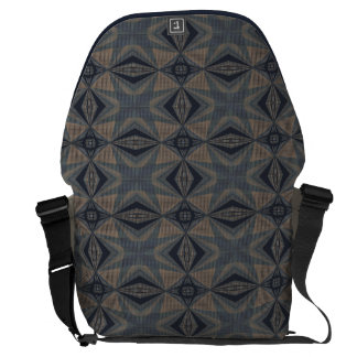 Complicated World - Abstract in Gray, Beige, Blue Courier Bag