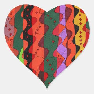 """""""Complications"""" Abstract Art Heart Sticker"""