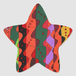 """Complications"" Abstract Art Star Sticker"