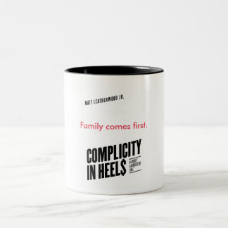 Complicity in Heels Mug B/W
