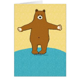 Complimentary Bear Hug Thank You Card