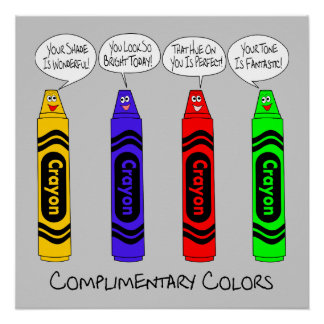 Complimentary Colors Poster