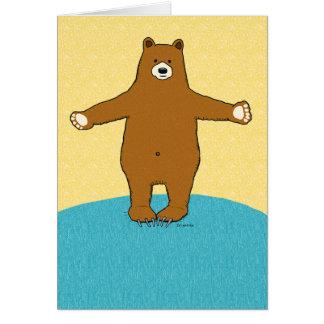 Complimentary Friendship Bear Hug Card