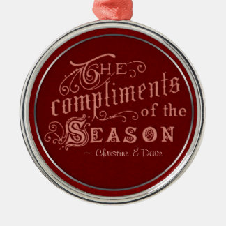 Compliments of Season CC0296 Christmas Ornament