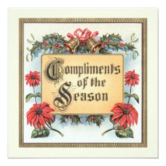 Compliments of Season, Christmas Party Invitation