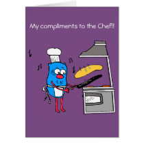Compliments to the Chef thank you card