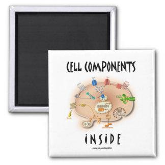 Componentes de la célula dentro iman de nevera