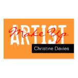Componga la tarjeta de visita del artista