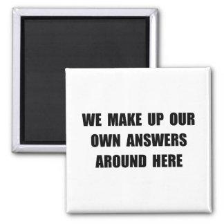 Componga las respuestas imán cuadrado