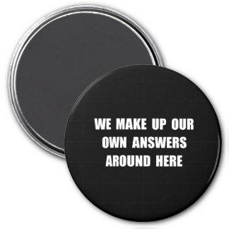 Componga las respuestas imán redondo 7 cm