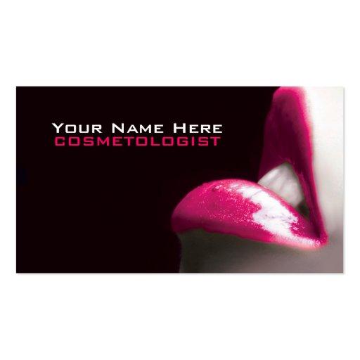 Componga las tarjetas de visita de los cosméticos