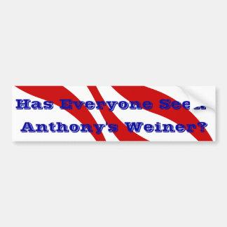 Comportamiento de Anthony Weiner de la pegatina pa Pegatina Para Auto