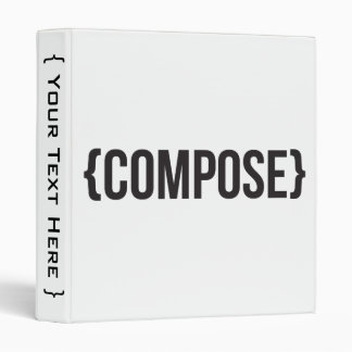Compose - Bracketed - Black and White Binders