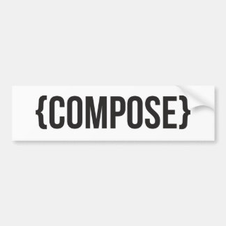 Compose - Bracketed - Black and White Bumper Sticker